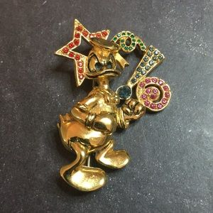 Disney Napier Jeweled Donald Duck Pin Brooch